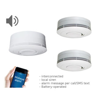 RF text and call smoke detectors