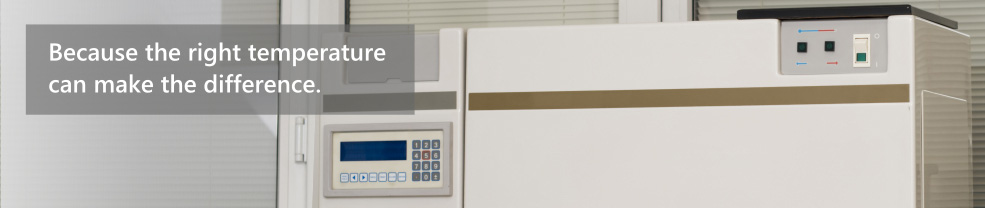 Temperature monitoring and power monitoring for medical fridges and freezers